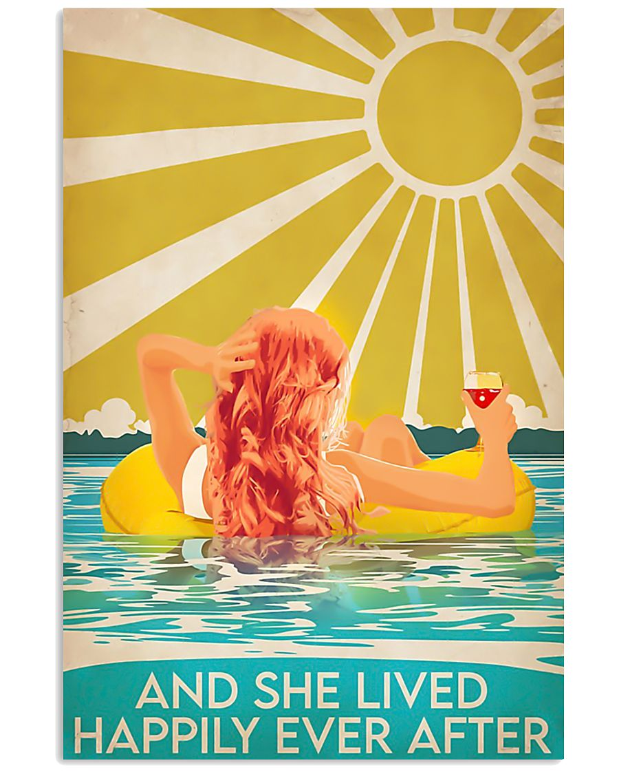 Swimming Redhead and she lived happily ever after  11x17 Poster