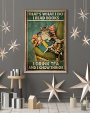 Cat that's what I do I read books I drink tea and  11x17 Poster lifestyle-holiday-poster-1