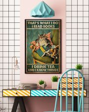 Cat that's what I do I read books I drink tea and  11x17 Poster lifestyle-poster-6