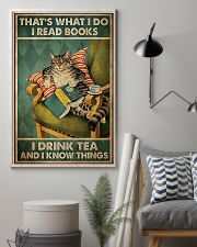 Cat that's what I do I read book I drink tea and I 11x17 Poster lifestyle-poster-1
