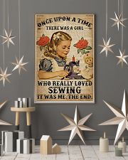 There was a girl who really loved sewing poster 11x17 Poster lifestyle-holiday-poster-1