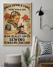 There was a girl who really loved sewing poster 11x17 Poster lifestyle-poster-1