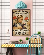 There was a girl who really loved sewing poster 11x17 Poster lifestyle-poster-6