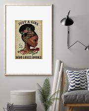 Black girl just a girl who love books poster 11x17 Poster lifestyle-poster-1