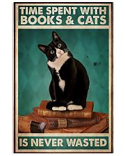 Time spent with books and cats is never wasted pos 11x17 Poster front