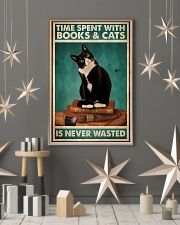Time spent with books and cats is never wasted pos 11x17 Poster lifestyle-holiday-poster-1