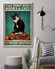 Time spent with books and cats is never wasted pos 11x17 Poster lifestyle-poster-1