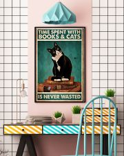 Time spent with books and cats is never wasted pos 11x17 Poster lifestyle-poster-6