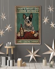 Cattle dog that's what I do I drink whiskey and I  11x17 Poster lifestyle-holiday-poster-1