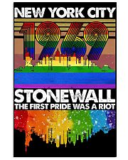 New York city 1969 stonewall the first pride was a 11x17 Poster front