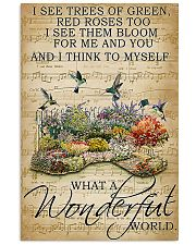 I see trees of green what a wonderful world poster 11x17 Poster front