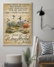 I see trees of green what a wonderful world poster 11x17 Poster lifestyle-poster-1