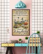 I see trees of green what a wonderful world poster 11x17 Poster lifestyle-poster-6