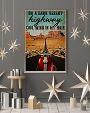 Biker on a dark desert highway cool wind in my hai 11x17 Poster lifestyle-holiday-poster-1