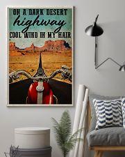 Biker on a dark desert highway cool wind in my hai 11x17 Poster lifestyle-poster-1