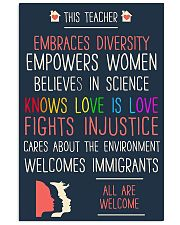 This teacher embraces diversity empowers women bel 11x17 Poster front