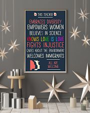 This teacher embraces diversity empowers women bel 11x17 Poster lifestyle-holiday-poster-1