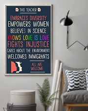 This teacher embraces diversity empowers women bel 11x17 Poster lifestyle-poster-1
