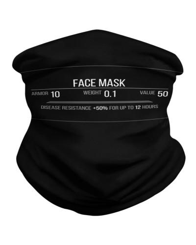 Light Armor Mask Funny RPG Gaming Face Mask