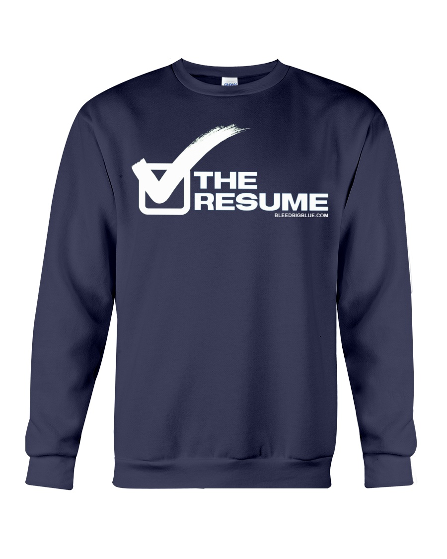 Check The Resume Crewneck Sweatshirt