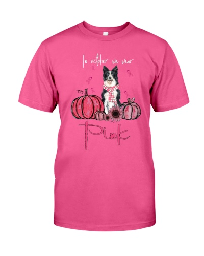Boder Collie In October We Wear Pink