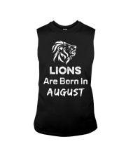 Birthday gift for Lions which are Born in August Sleeveless Tee thumbnail