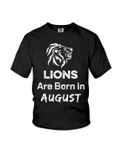 Birthday gift for Lions which are Born in August Youth T-Shirt thumbnail