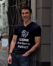 Birthday gift for Lions which are Born in August V-Neck T-Shirt lifestyle-mens-vneck-front-1