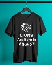 Birthday gift for Lions which are Born in August V-Neck T-Shirt lifestyle-mens-vneck-front-3