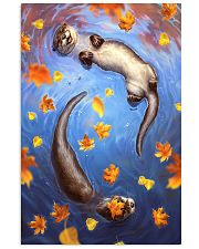 Otter couple autumn cool poster 11x17 Poster front