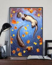Otter couple autumn cool poster 11x17 Poster lifestyle-poster-2