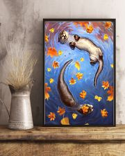 Otter couple autumn cool poster 11x17 Poster lifestyle-poster-3