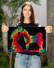 AKITA girl kiss Akita tie dye cool gift poster 17x11 Poster poster-landscape-17x11-lifestyle-19