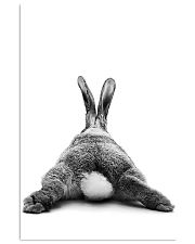 Rabbit butt back funny gifts poster 11x17 Poster front