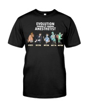 Anesthesiologist Anesthetist evolution funny gift Classic T-Shirt front