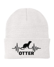 Otter line heart beat knit beanie gifts christmas Knit Beanie front