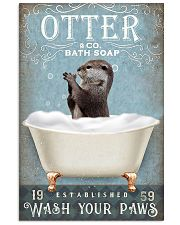 Otter wash your paws funny gifts bathroom poster 11x17 Poster front