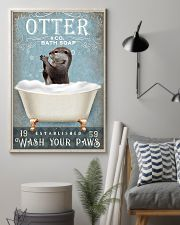 Otter wash your paws funny gifts bathroom poster 11x17 Poster lifestyle-poster-1