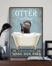 Otter wash your paws funny gifts bathroom poster 11x17 Poster lifestyle-poster-2