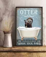 Otter wash your paws funny gifts bathroom poster 11x17 Poster lifestyle-poster-3