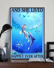 Dolphin and she lived happily ever after poster 11x17 Poster lifestyle-poster-2