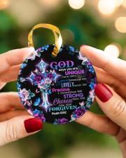 God - God Says You Are - Circle Ornament Circle ornament - single (porcelain) aos-circle-ornament-single-porcelain-lifestyles-08