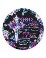 God - God Says You Are - Circle Ornament Circle ornament - single (porcelain) front