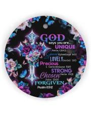 God - God Says You Are - Circle Ornament Circle Ornament (Wood tile