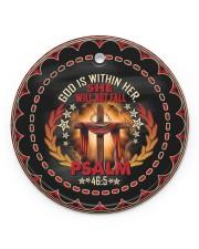 God - Cross Circle ornament - single (porcelain) front