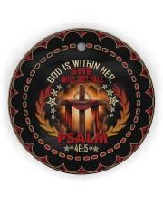 God - Cross Circle ornament - single (wood) thumbnail