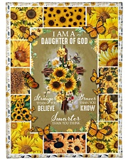 "God - Daughter Of God - Fleece Blanket Large Fleece Blanket - 60"" x 80"" front"