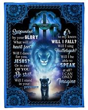 God - Lion - Fleece Blanket Fleece Blanket tile