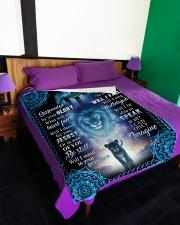 """God - Lion - Fleece Blanket Large Fleece Blanket - 60"""" x 80"""" aos-coral-fleece-blanket-60x80-lifestyle-front-01"""