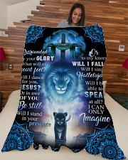 """God - Lion - Fleece Blanket Large Fleece Blanket - 60"""" x 80"""" aos-coral-fleece-blanket-60x80-lifestyle-front-04"""